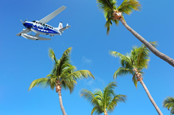 Tropic Ocean Airways over Little Palm Island