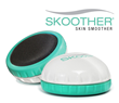 "The ergonomically designed Skoother Skin Smoother with ""micro-abrasive smoothing screen""."