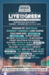 Lightning 100's Live On The Green 2015 Lineup Graphic