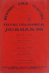 Vintage Original 1965 Bob Dylan Newport Folk Festival Concert Poster
