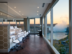 The Christienne Fallsview Spa offers incredible treatment and relaxation areas in direct view of the spectacular Niagara Falls.