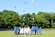 Upon conclusion of Glenholme's eleventh commencement exercises on Wednesday June 24, 2016, the seventeen members of the Class of 2015 joined in the commemorative cap toss.