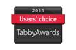 Tabby Awards users' choice badge