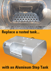 Cleveland Tank's Aluminum Step Tanks replace rusted International 4000 Series steel tanks