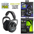Mack's Live Fire Electronic Shooting Earmuffs in Black