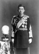 Emperor Hirohito of Japan, in full dress uniform in 1935. Ten years later, he would be the only authority capable of overruling militarist opposition to the surrender of his defeated empire. LIBRARY OF CONGRESS