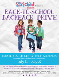 Once Upon A Child Oak Brook Backpack Drive