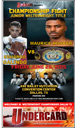 Dallas, TX Hosts WBO NABO Junior Welterweight Title Fight Featuring Undefeated Local Maurice Hooker vs Two Time Mexican National Champion, Eduardo Galindo From Tijuana, M