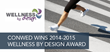 CONWED Wins 2014-2015 Wellness By Design Award