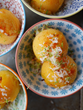 Mango Chili Lime Sorbet made with Califia Farms Mango Chili Lime Agua Fresca