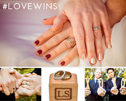 Liza Shtromberg customized wedding and engagement rings for LGBTQ couples