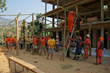 Scientology Volunteer Ministers building new classrooms for the village of  Ratomate, Nepal.