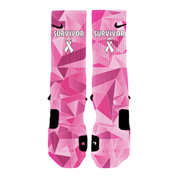 Custom Elite Socks Breast Cancer Research