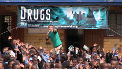 Drug education lecture in Soweto, South Africa