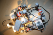 The first AlphaPura 3D printer prototype was made out of two EV3 Lego robotics sets
