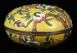 Late 19th C. Chinese Nine Peaches Cloisonné Box