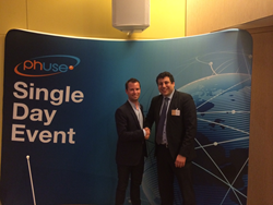 PhUSE Special Projects Director Jean-Marc Ferran welcomes Simon Lebeau to Paris SDE