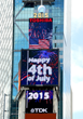 Times Square Celebrates Independence Day with a Colossal Fireworks Display Sparkling across Toshiba Vision and TDK Screens