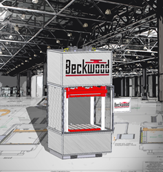 Engineer's rendering of the Beckwood 100 ton composite forming hydraulic press