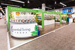 Exhibit Built by Absolute Exhibits at Natural Products Expo