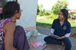 HALO Volunteers conduct a survey to assess the potential risk of landmines at a farm in Cambodia