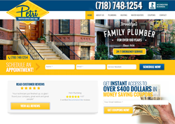 Brooklyn professional plumbers Petri Plumbing new website