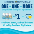 Nordic Naturals® 'One + One = More' Campaign Benefits Big Brothers Big Sisters