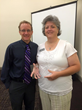 Aimee Brunelle (R) awarded Jr./Community College Athletic Trainer of the Year