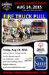 Carmus Productions, LLC Announces Special Olympics Fire Truck Pull Event To Be Included In Idaho Festival, Aug 14, 2015.