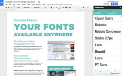 Browse, preview and apply fonts directly into Google documents
