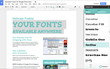 Easily browse font options with large, easy-to-inspect font previews