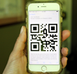 QR code on mobile device