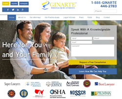 Ginarte Website Homepage
