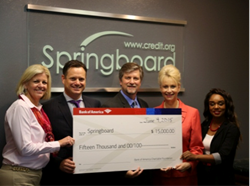 Bank of America Presents Grant to Springboard