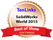 CETOL 6σ Earns Bronze Best of Show Title at SOLIDWORKS World 2015 from TenLinks Division of ENGINEERING.COM