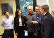 Simi Valley Mayor Bob congratulates CEO Belina, Director Jerome and Randy.