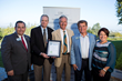 PacMin is honored as the Large Business of the Year by the Fullerton Chamber of Commerce. Greg Sebourn, Fullerton Mayor (left), Dan Ouweleen, PacMin President, Fred Ouweleen, PacMin CEO, Doug Chaffee and Jennifer Fitzgerald, Fullerton City Council members
