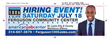 Ferguson 1000 Jobs Hiring Event July 18th.  A Hiring Event or the entire St. Louis Region