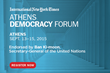 Co-Sponsor Carnegie Council Looks Forward to the The International New York Times Athens Democracy Forum, September 13-15