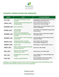 Season One Lineup of Topics and Speakers