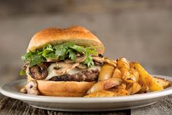 Famous 4 Burger - Tony Saccos Coal Oven Gourmet Burger