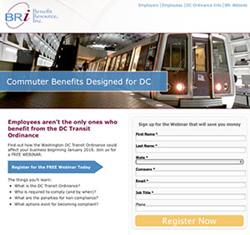 Dedicated resource site for DC Transit Ordinance at www.BenefitResource.com/DCtransit