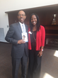 President Michael Drake, MD,  and  Dr. Nwando Olayiwola, MD, MPH, CPE, FAAFP