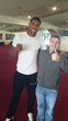 Boxing News and Views Editor with UK Heavyweight Anthony Joshua