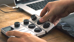 Palette uses strong magnets to connect each control module to the core unit