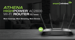 Amped Wireless ATHENA, a Premium, HighPower AC2600 Wi-Fi Router with MU-MIMO is Now Available