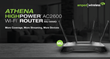 Amped Wireless ATHENA, a Premium, HighPower™ AC2600 Wi-Fi Router with...