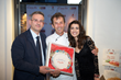 L to R: Mimmo Casillo, Chef Mauro Pansini and beautiful Manuela Rana