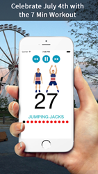 7Min wants to get America moving with the 7 Min Independence Day Workout this July 4th.