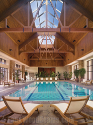 Woodland faux ceiling beams were used to build beautiful trusses in the pool room at Ameristar Casino in Blackhawk, CO.